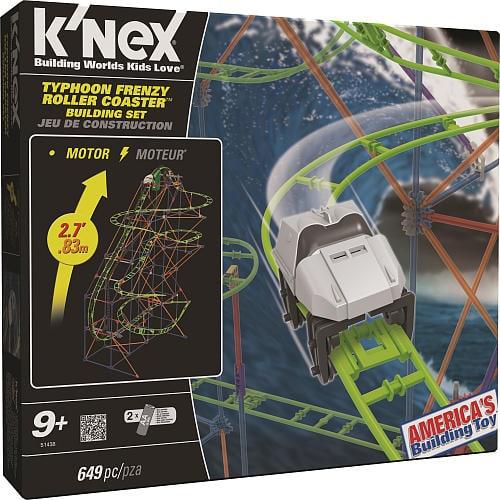 K'NEX Typhoon Frenzy Roller Coaster Building Set