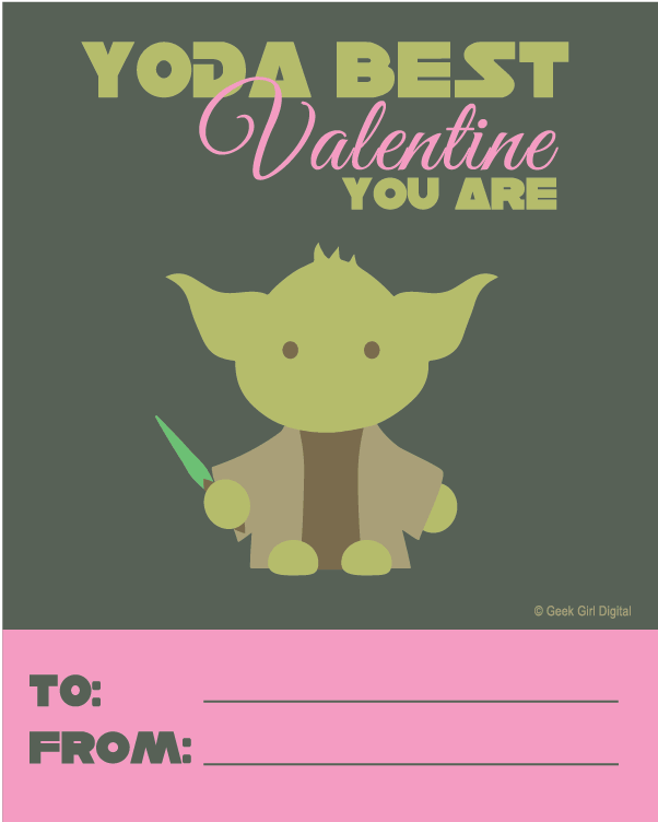 Free Yoda Valentine Printable {for Girls}