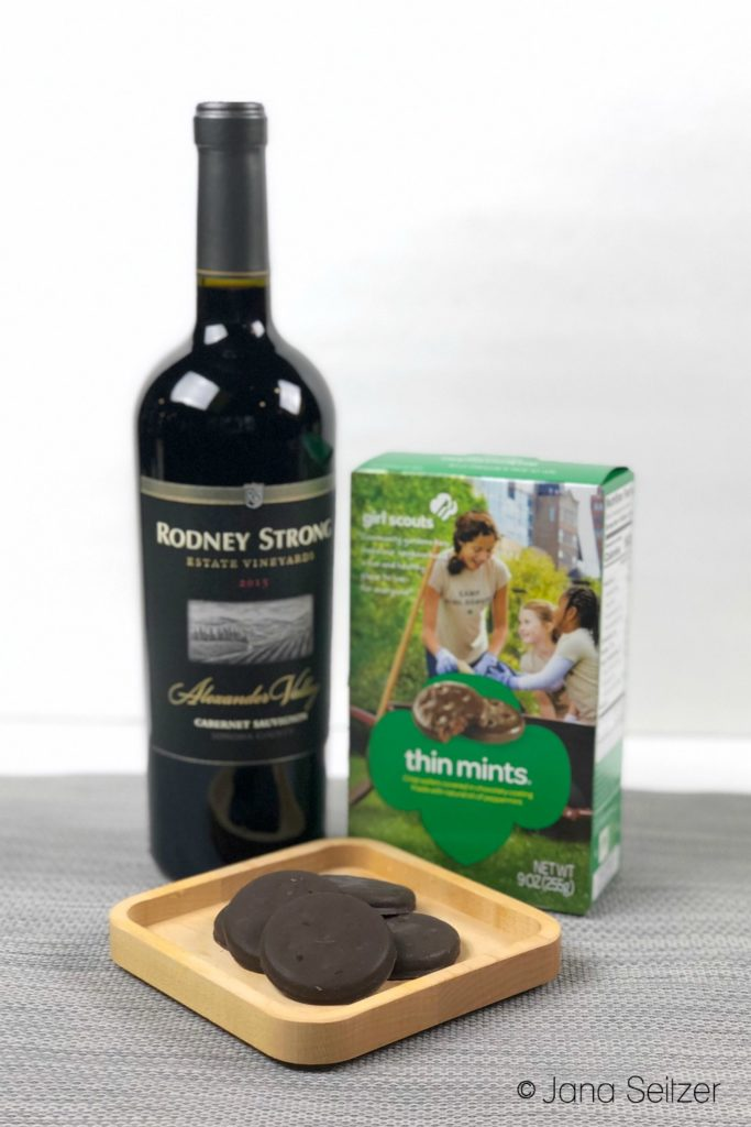 cabernet sauvignon and thin mints