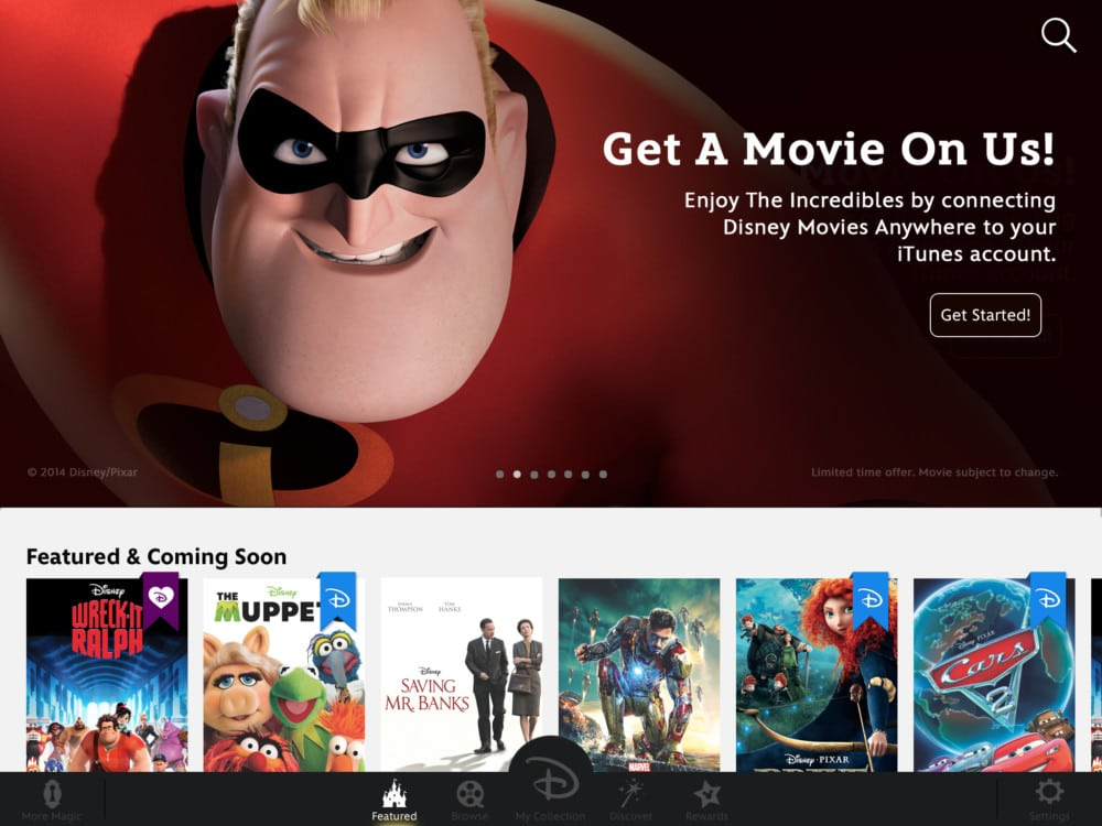 Free Disney•Pixar's The Incredibles Free Digital Copy with Disney Movies Anywhere