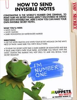 #MuppetsMostWanted Activity Sheets