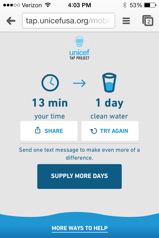 UNICEF Tap Project Helps People Get Access to Clean Water Worldwide