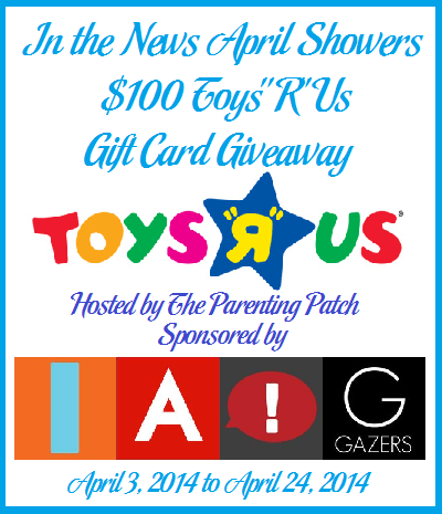 """In the News April Showers $100 Toys """"R"""" Us Gift Card Giveaway"""