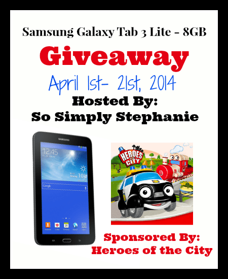 Enter to win a Samsung Galaxy Tab 3 Lite #Giveaway