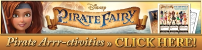 Free Disney's The Pirate Fairy Activity Sheets