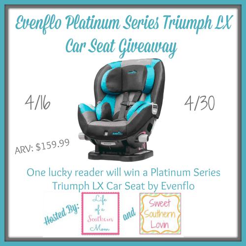 Evenflo Platinum Series Triumph LX Car Seat #Giveaway