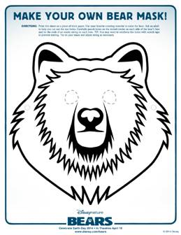 Disneynature's BEARS Activity Sheets