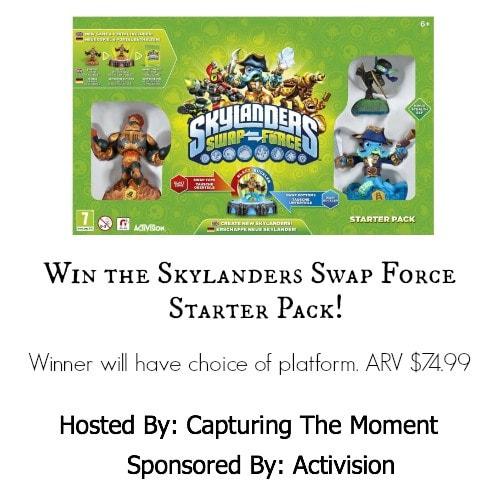 Enter to win a Skylanders Swap Force Starter Pack ends 5/12 #Giveaway