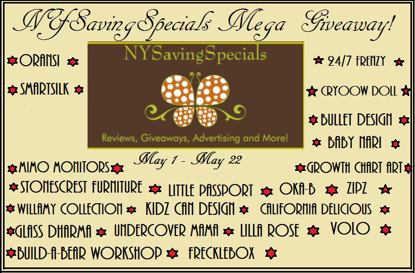 NYSavingsSpecials Mega #Giveaway ends 5/22