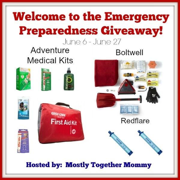 Emergency Preparedness #Giveaway ends 6/27