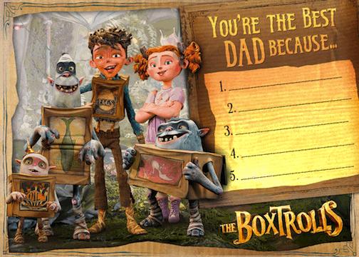 boxtrolls father's day
