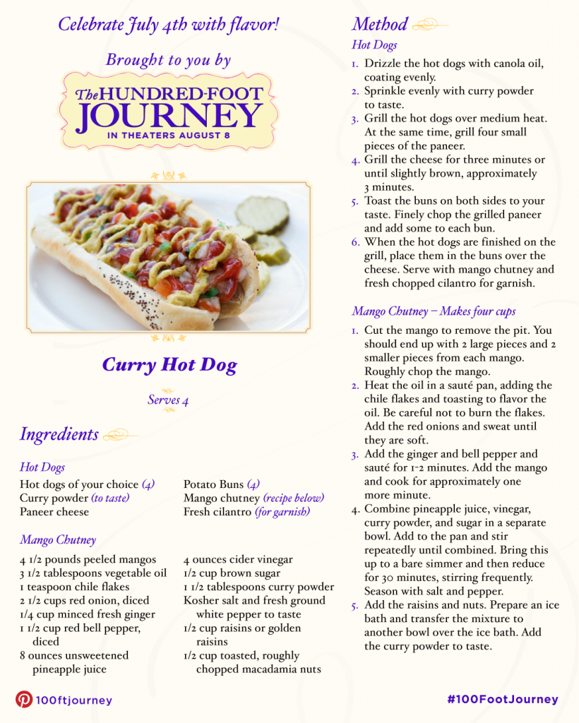 100FootJourney Curry Hot Dog