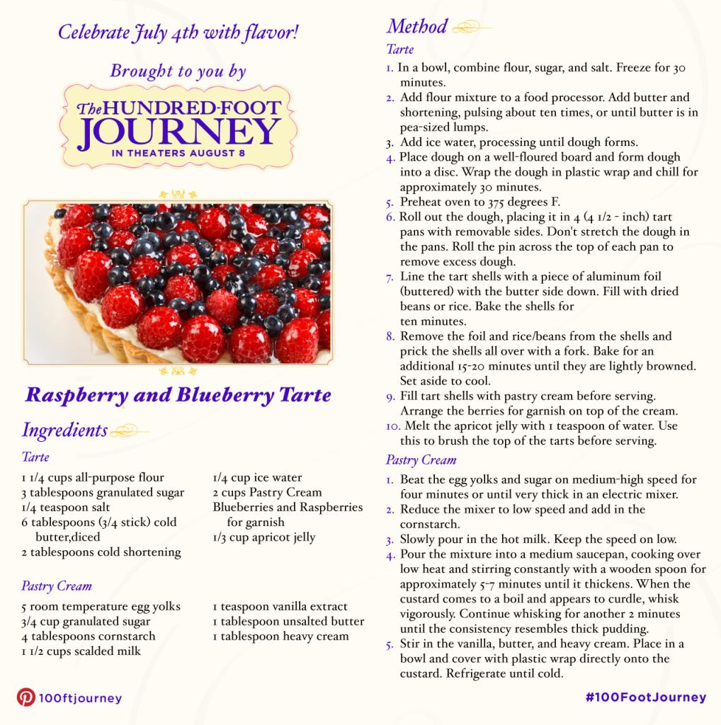 100 foot journey berry torte