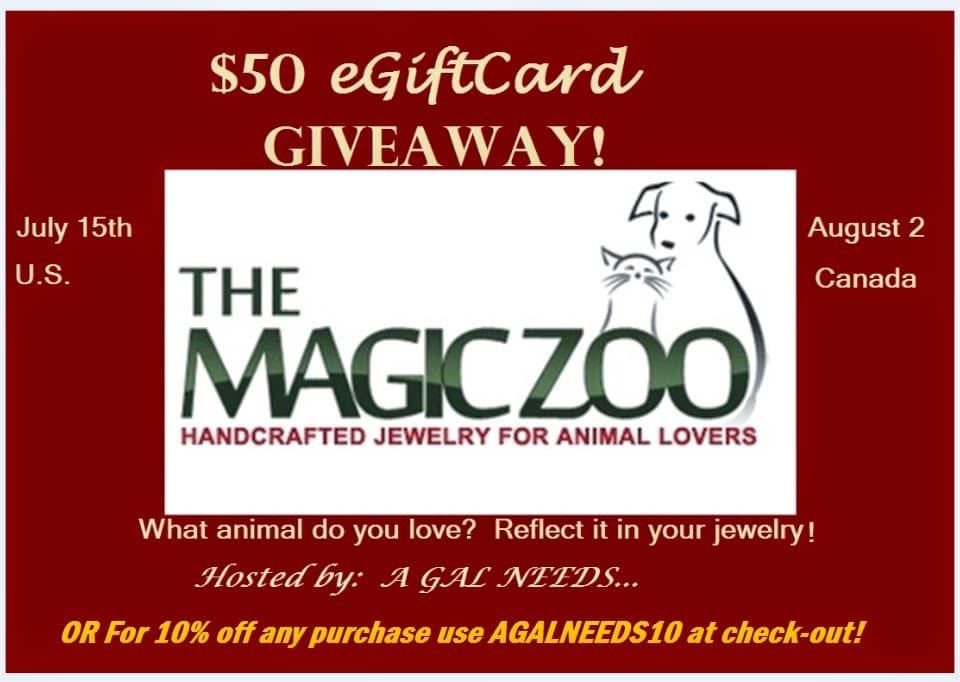 Enter the Magic Zoo Jewelry #Giveaway ends 8/2