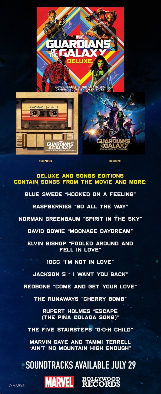 Guardians of the Galaxy Soundtrack Available for Pre-Order #GuardiansoftheGalaxyEvent