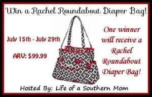 Enter the Rachel Roundabout Diaper Bag #Giveaway ends 7/29