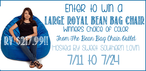 Large Royal Bean Bag Chair from The Bean Bag Chair Outlet #Giveaway end 7/24