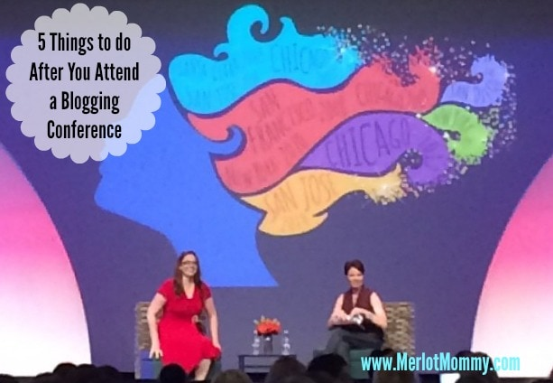 5 Things to do after attending a social media/blogging conference #BlogHer14