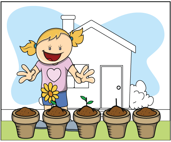 garden fun with the kids