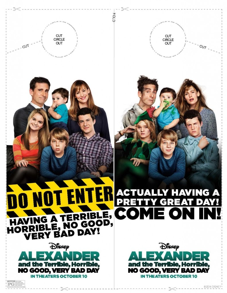 ALEXANDER AND THE TERRIBLE, HORRIBLE, NO GOOD, VERY BAD DAY activity sheets for kids