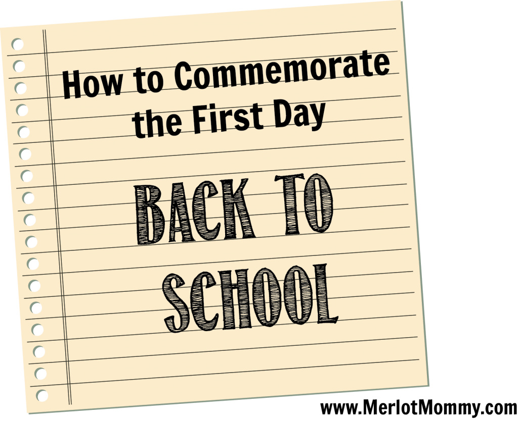 first day back to school commemorate