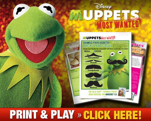 New Muppets Most Wanted Activity Sheets and Clips Available