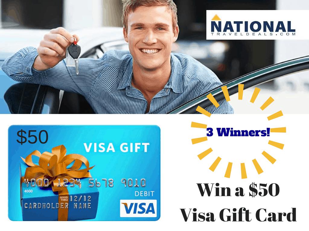 visa card giveaway National Travel Deals