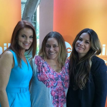 Laura Leighton (Pretty Little Liars), me, and Holly Marie Combs (PLL)