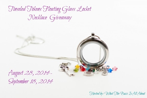 Enter the Tinseled Tokens Floating Glass Locket Necklace #Giveaway ends 9/18