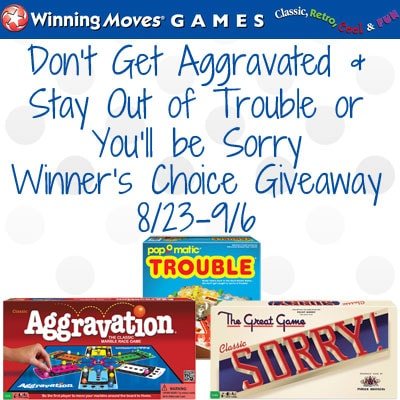 Enter the Don't Get Aggravated & Stay Out of Trouble or You'll be Sorry #Giveaway ends 9/6