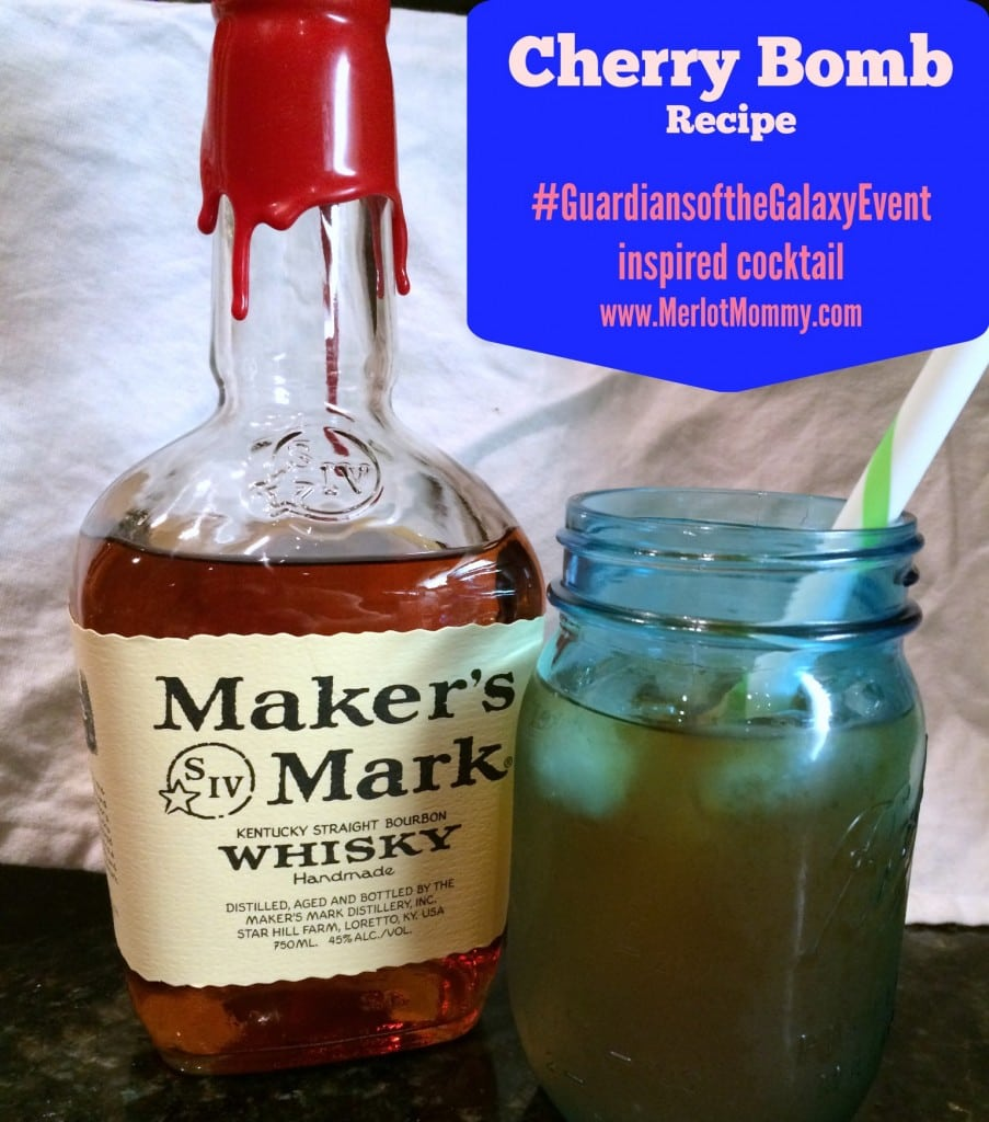 Cherry Bomb Cocktail Recipe: Guardians of the Galaxy Inspired Recipe #GuardiansoftheGalaxyEvent