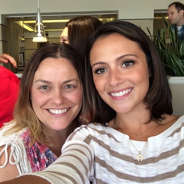 Me and Italia Ricci at the Chasing Life Meet and Greet Breakfast