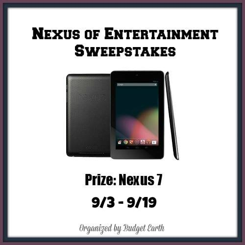 Nexus of Entertainment Sweepstakes #giveaway ends 9/19