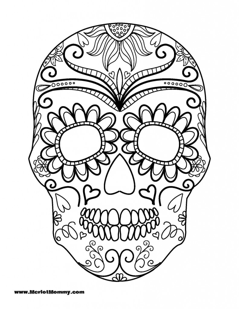 Sugar Skull Coloring Page Az Pages Sketch Coloring Page Skulls Coloring Pages