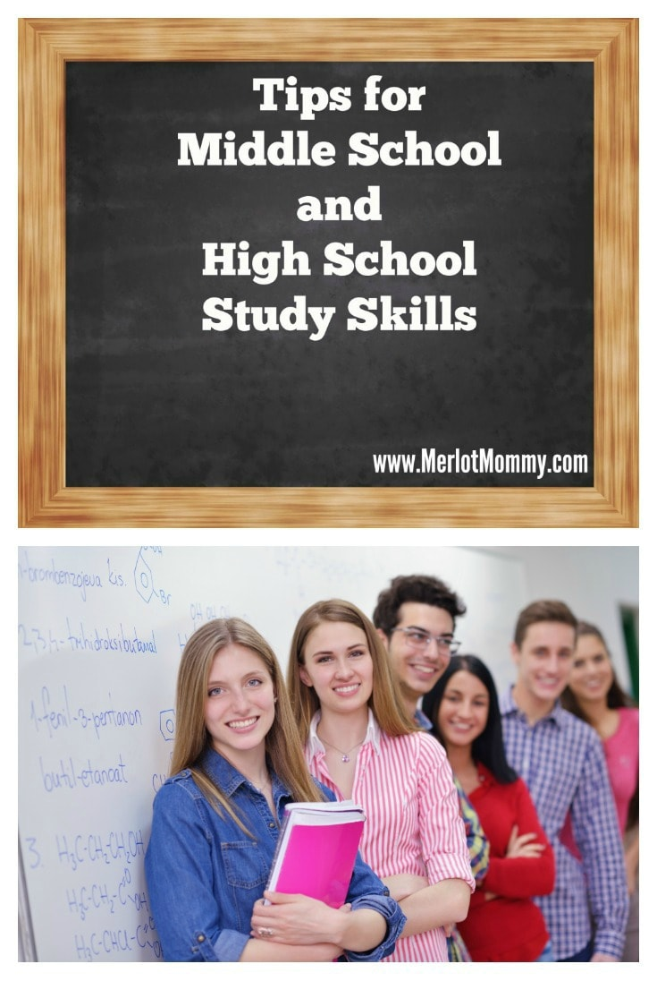 Tips for Middle School and High School Study Skills