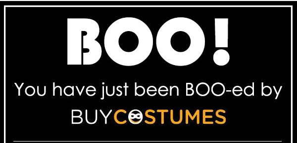 You've Been BOO-ed by BuyCostumes