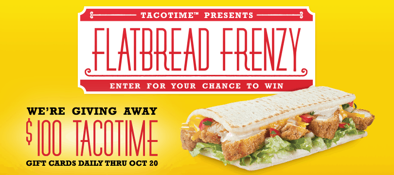 Introducing the new Crispy Chicken Flatbread from @TacoTime