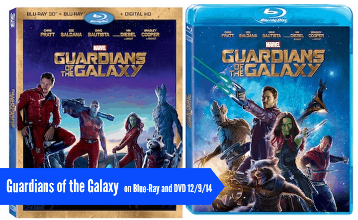 Guardians of the Galaxy Blu-Ray andDVD
