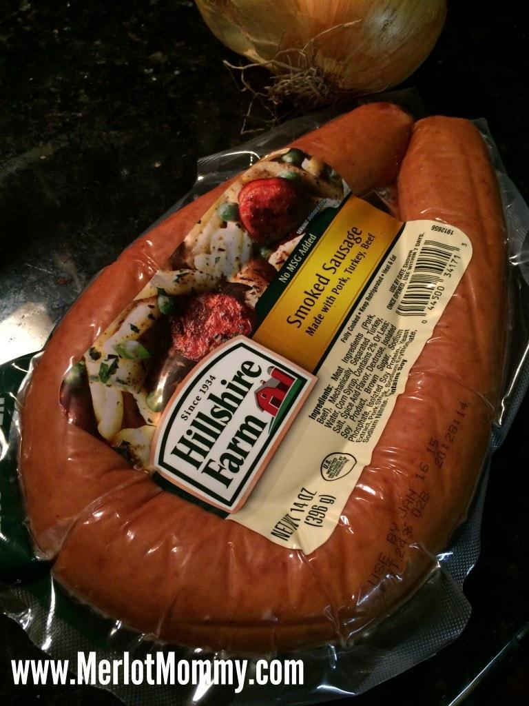 Hillshire Farm Smoked Sausage and Pierogis Recipe