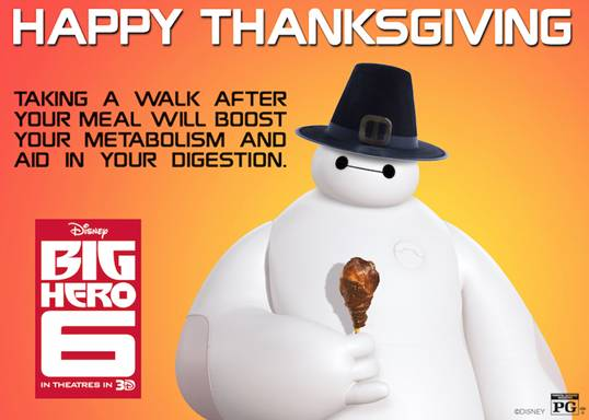 Happy Thanksgiving from Baymax