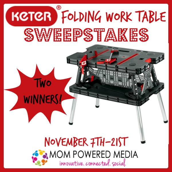 Keter Folding Work Table Review and Giveaway