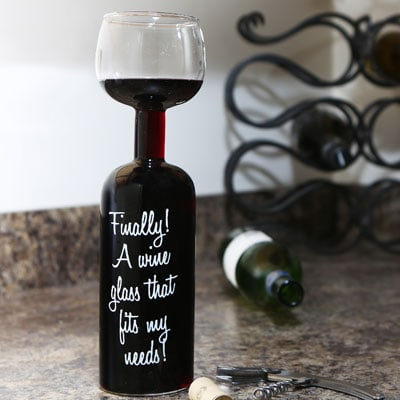 Big Mouth Wine Bottle Glass