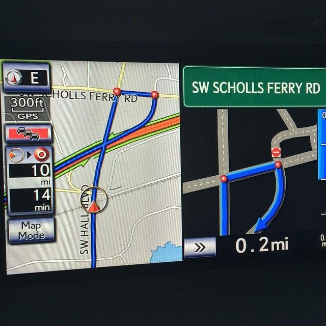 Lexus GS 350 navigation system
