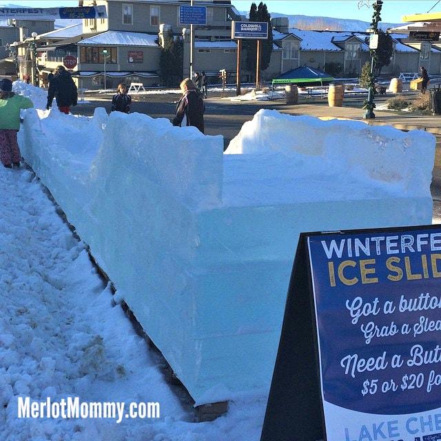 Lake Chelan Winterfest Ice Slide