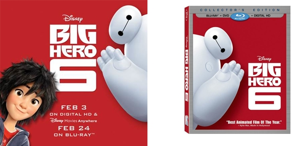 Disney's Big Hero 6 Arrives on DMA 02/03 and Blu-ray 02/24 #BigHero6 #MeetBaymax
