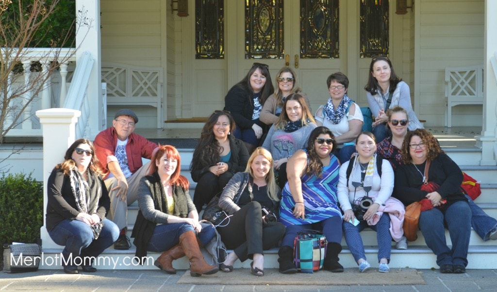 Group photo in front of the Main House at Skywalker Ranch
