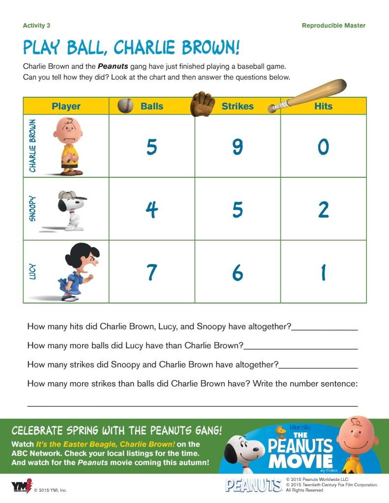 Snoopy Peanuts Activity Sheets
