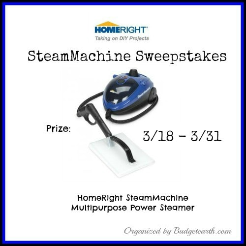 Homeright SteamMachine Sweepstakes ends 3/31