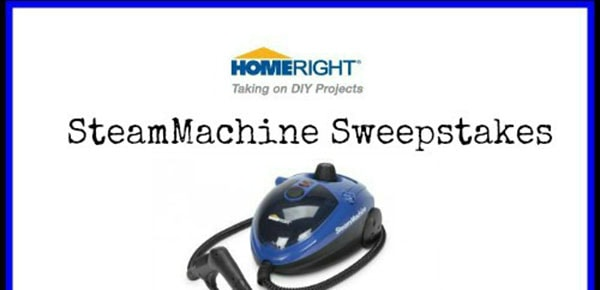 Homeright SteamMachine Sweepstakes ends 3/31 #giveaway