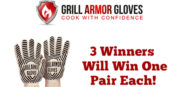 Enter to win Grill Armor Gloves #Giveaway ends 4/6